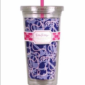 Lilly Pulitzer reusable cold drink tumbler